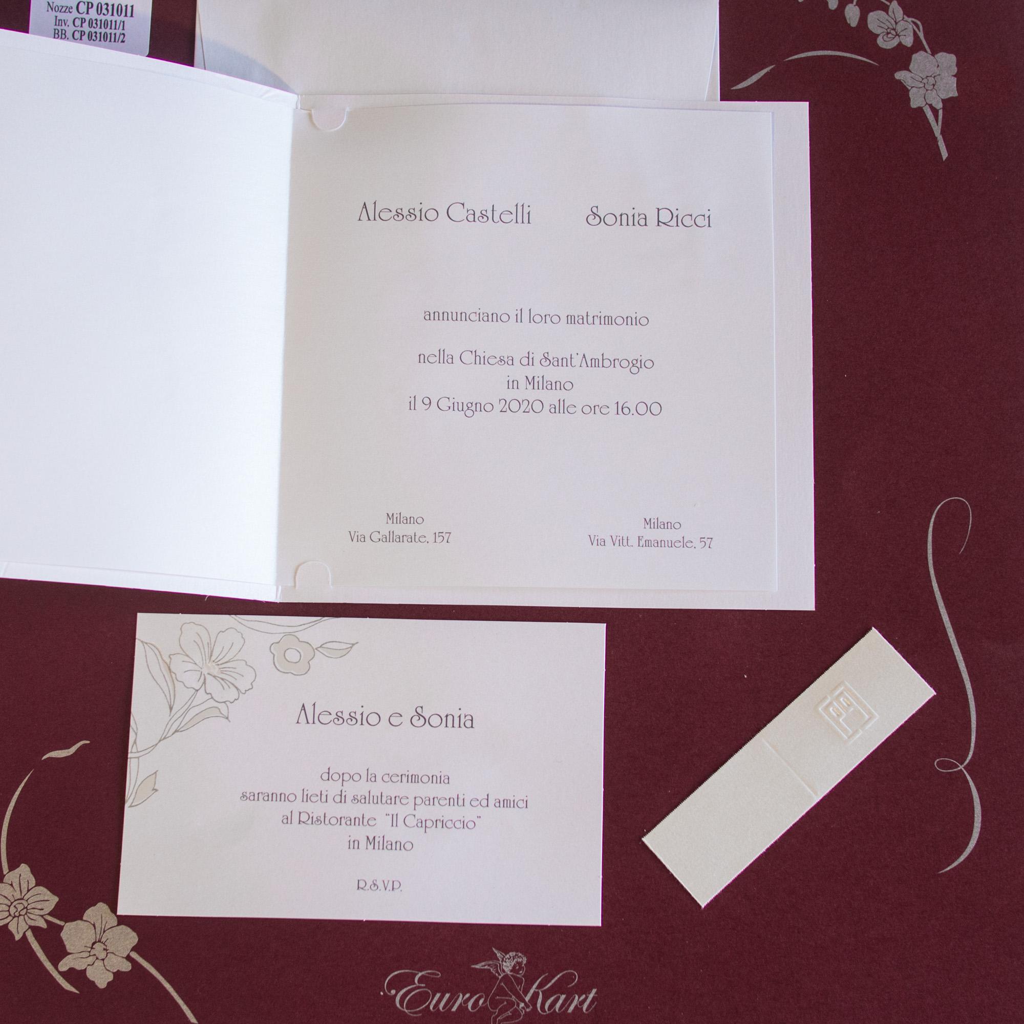 partecipazioni di nozze CP031011