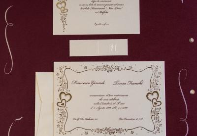 partecipazioni di nozze E45584