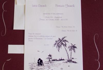 partecipazioni di nozze E45591