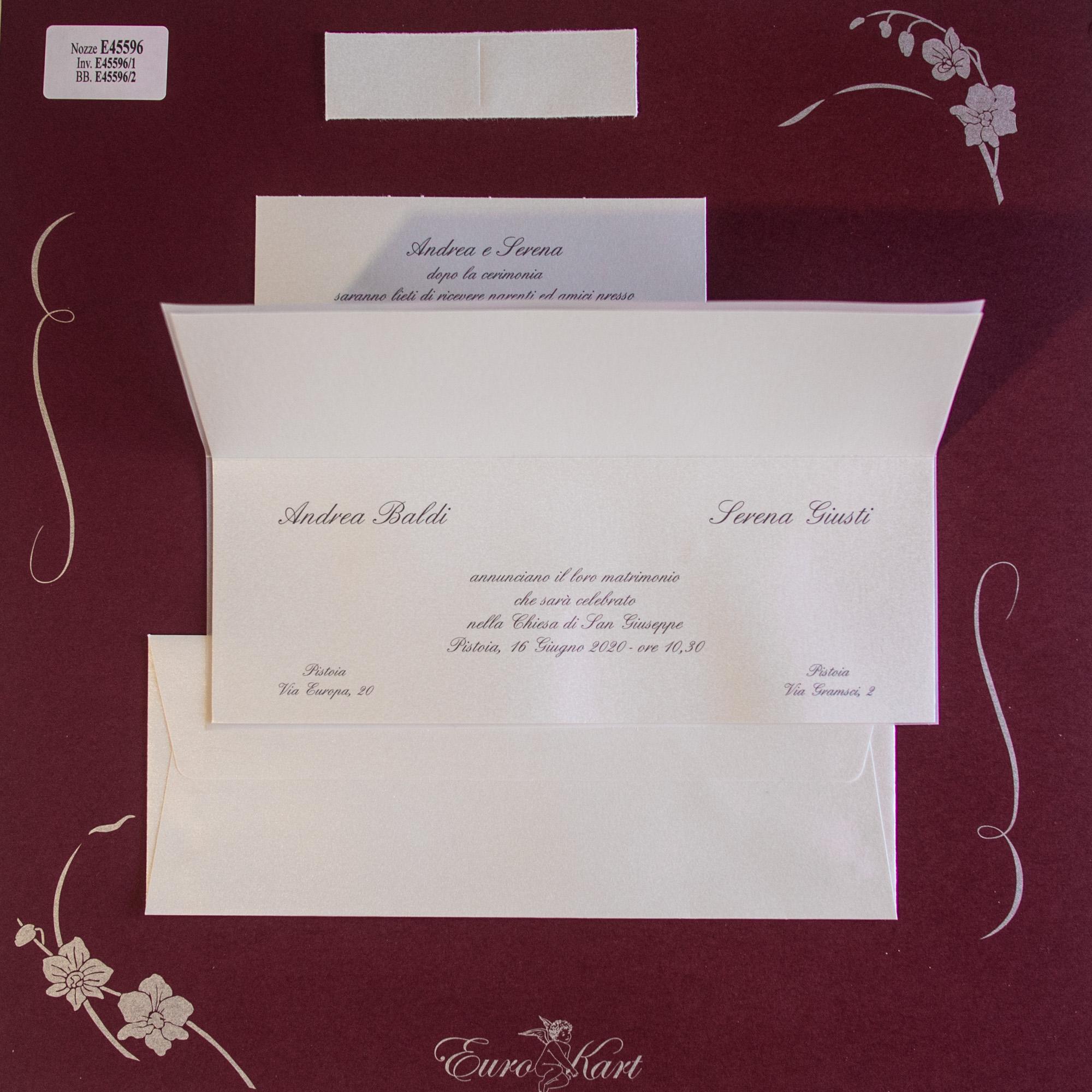 partecipazioni di nozze E45596