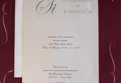 partecipazioni di nozze E45598