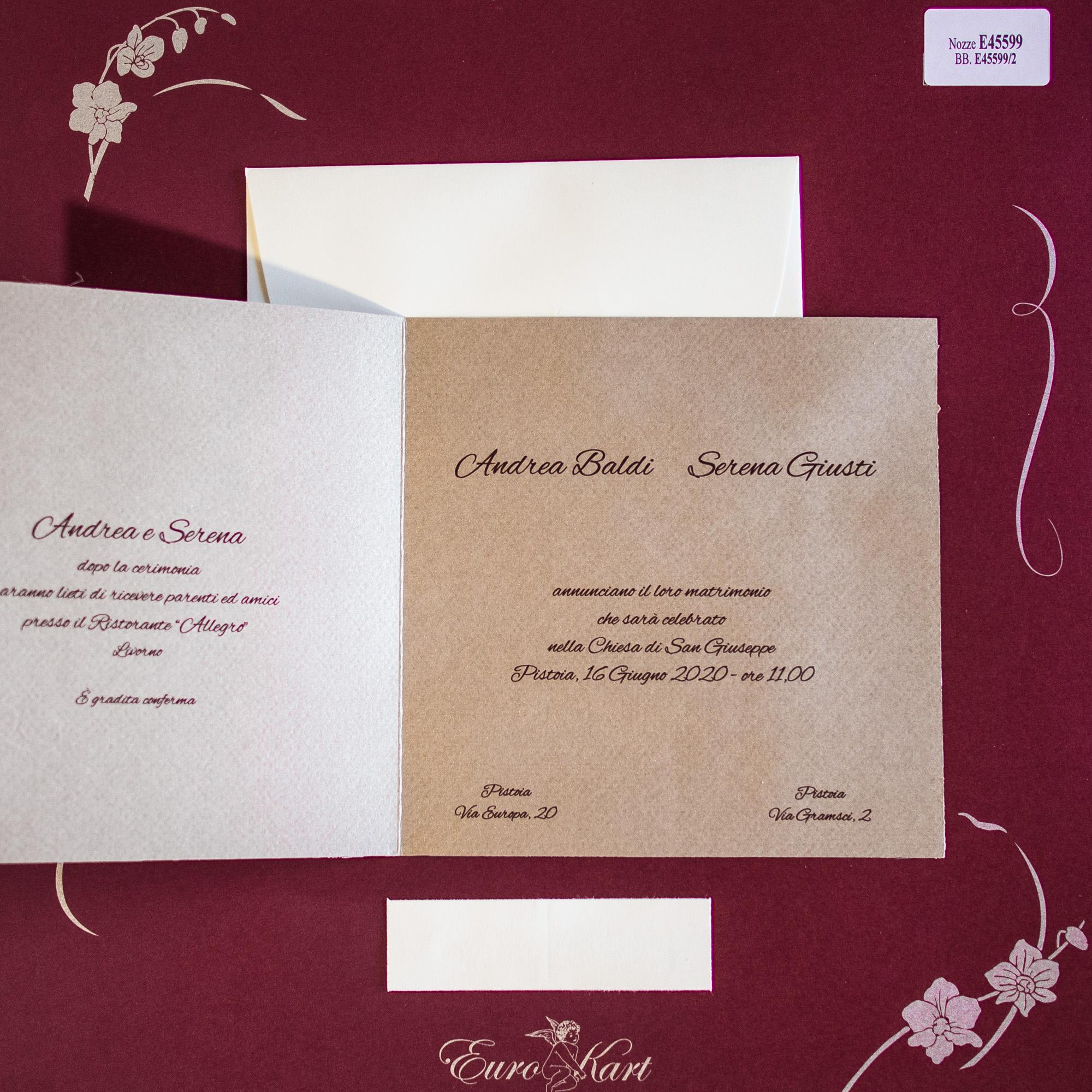 partecipazioni di nozze E45599