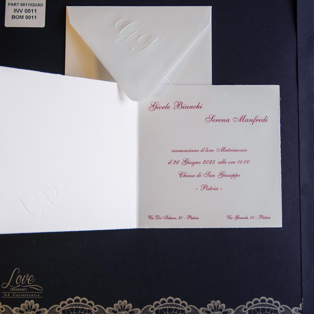partecipazioni di nozze 0011/Quadra