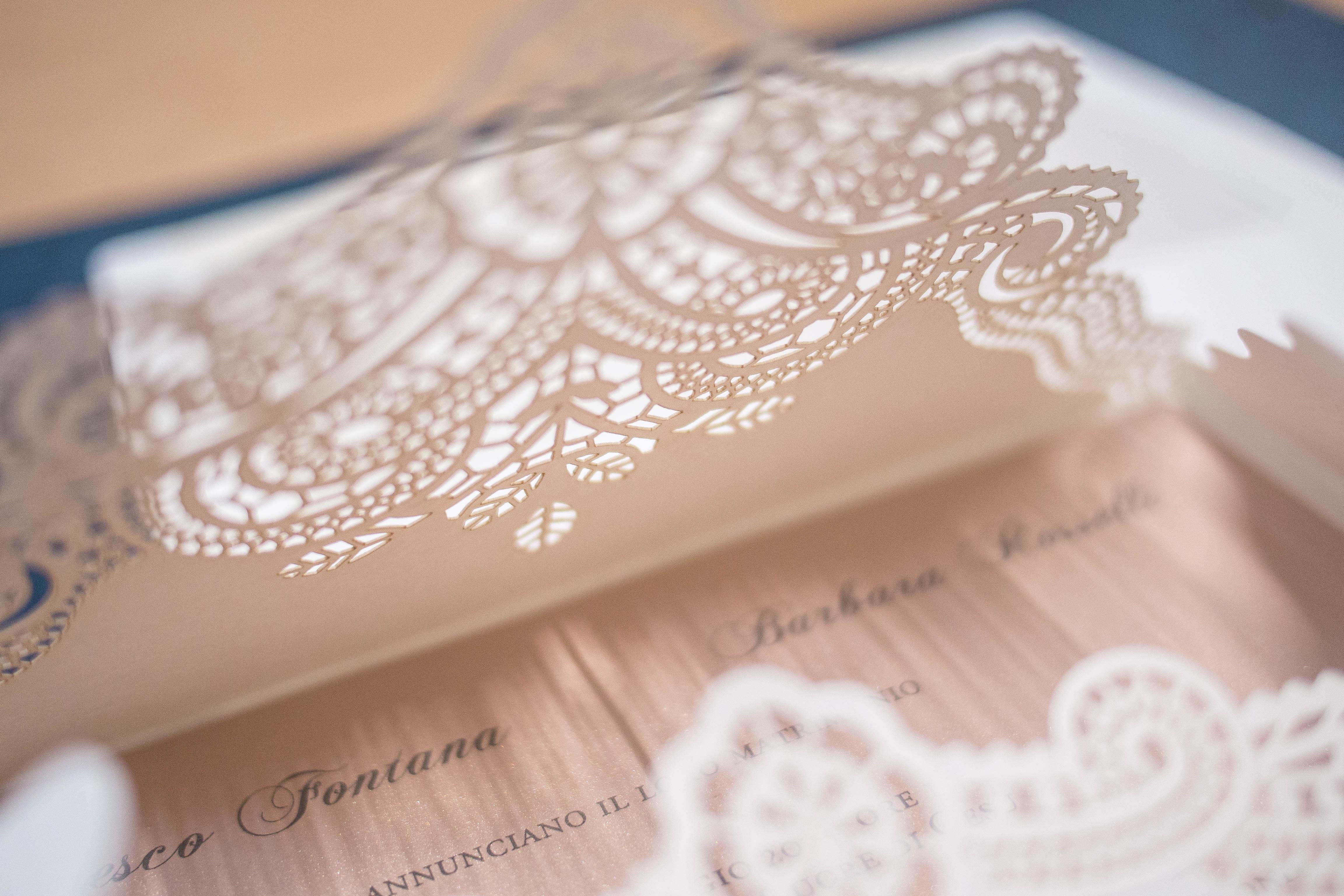 partecipazione di matrimonio 05-1832 Lasercut