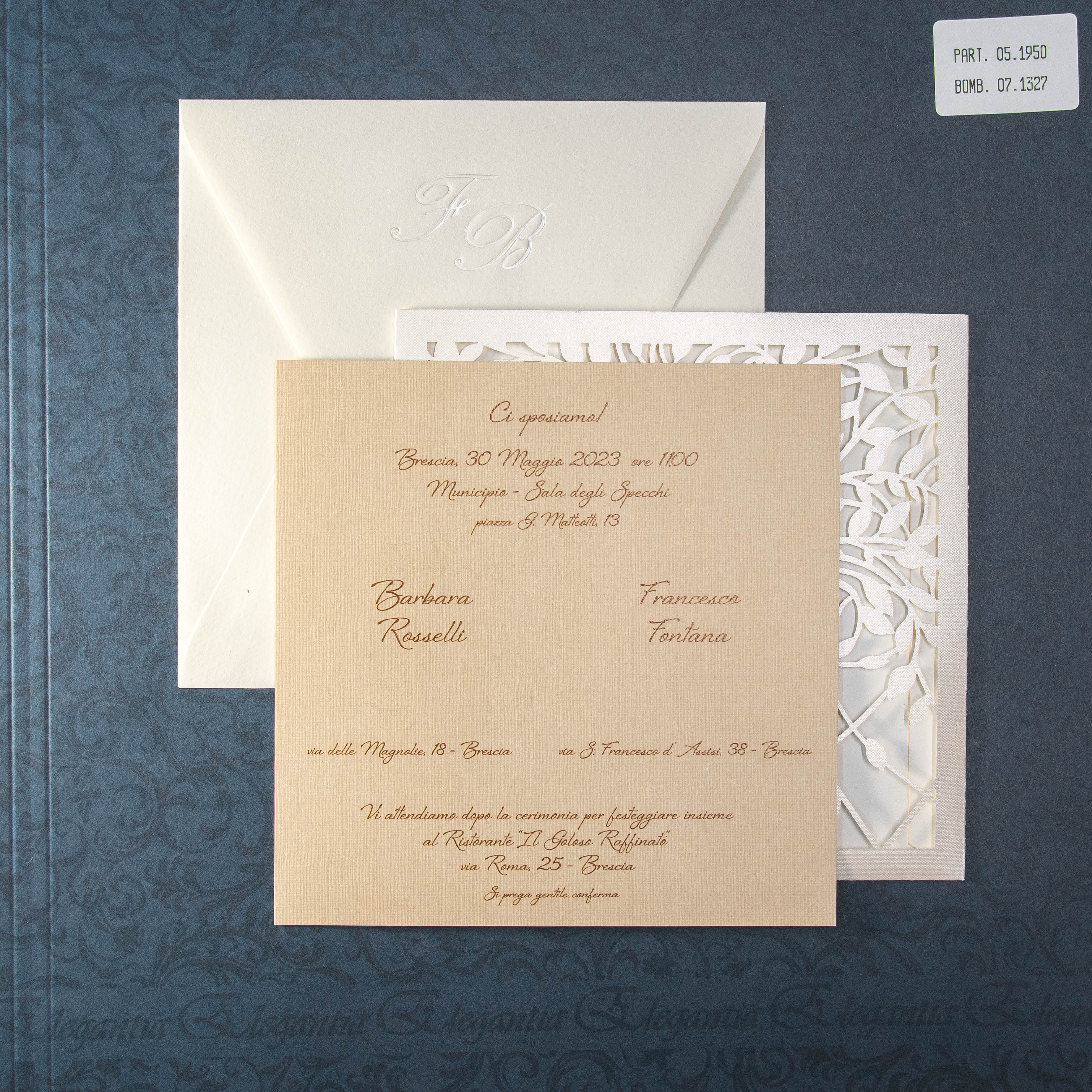 partecipazione di matrimonio 05-1950 Lasercut