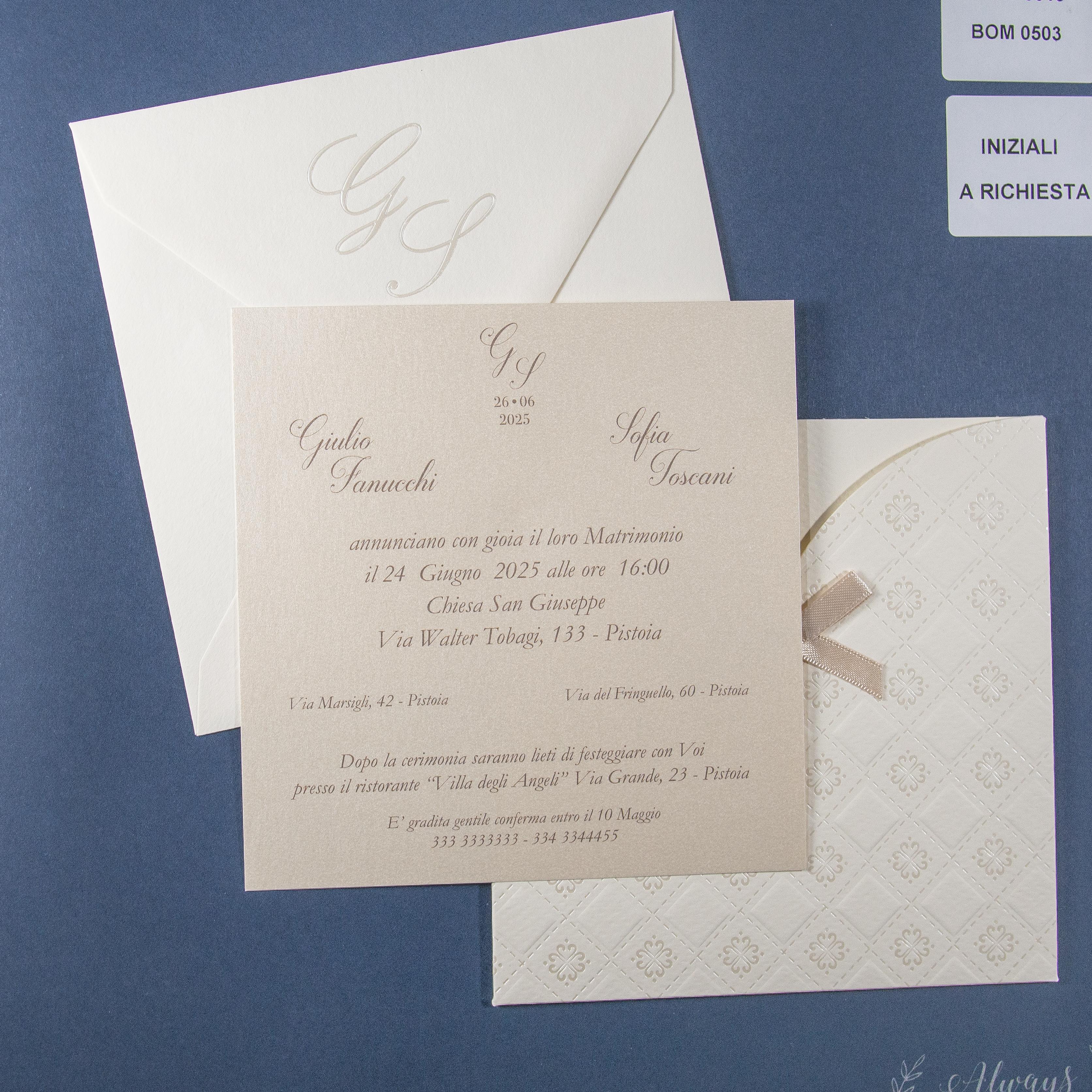 Partecipazione di matrimonio 0616