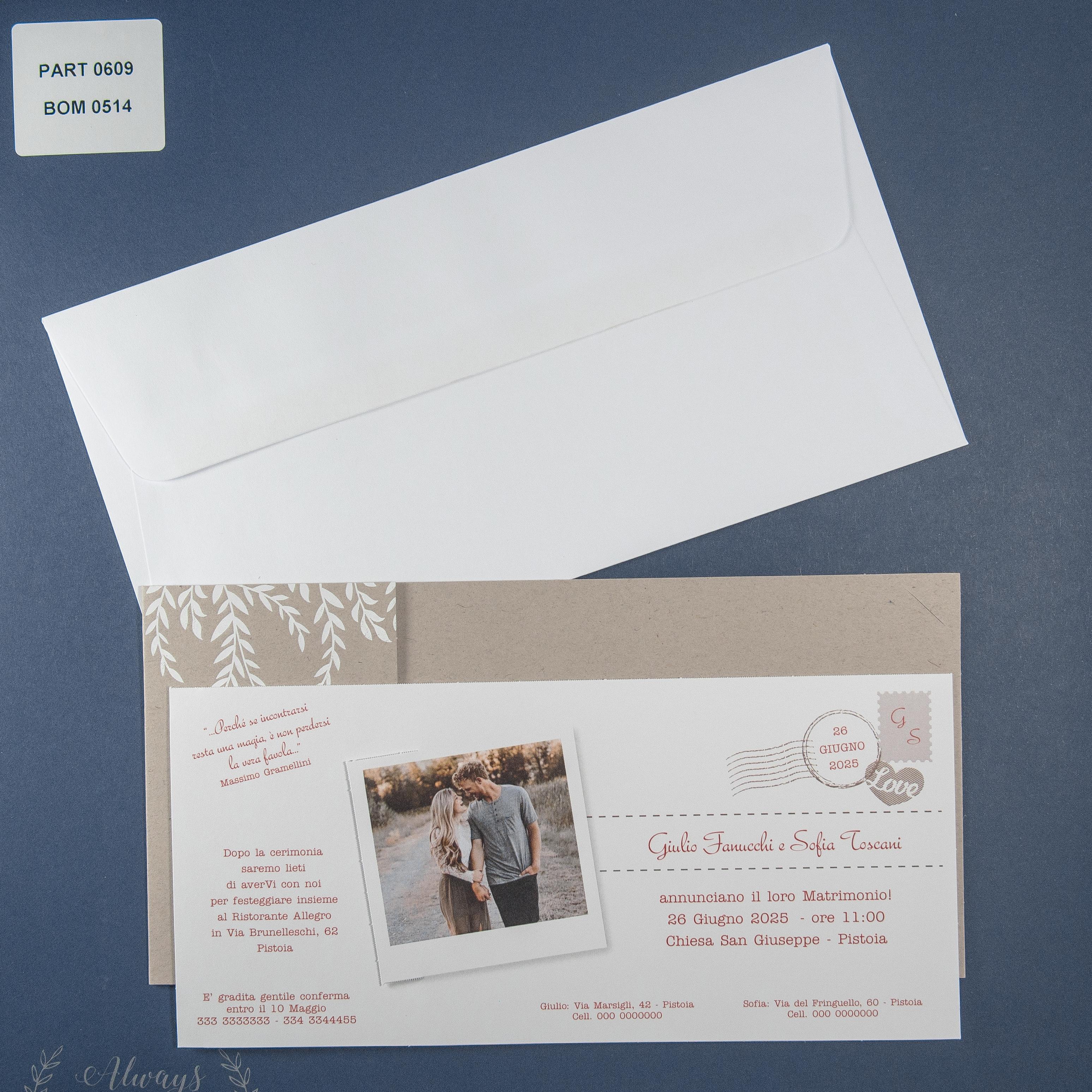 Partecipazione di matrimonio 0609