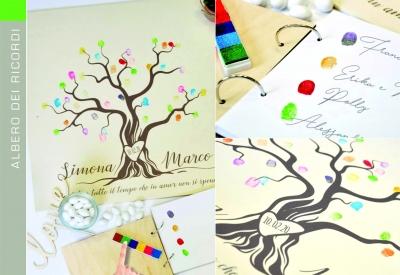 Finger Print Guest Book - Albero dei Ricordi