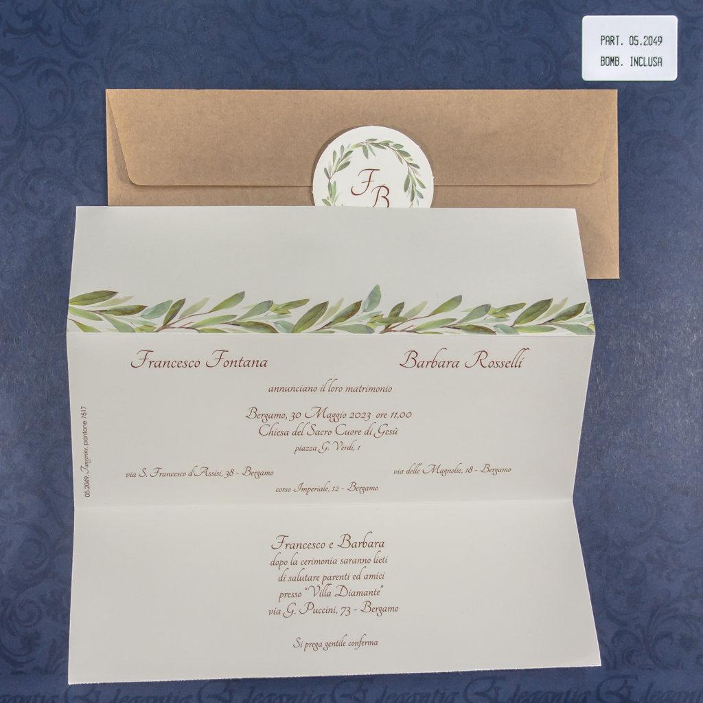 partecipazione di matrimonio 05-2049 ulivo