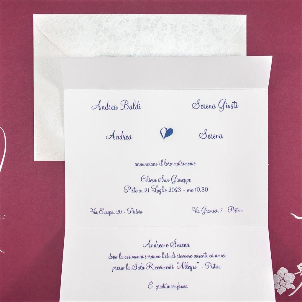 partecipazione di matrimonio E45606