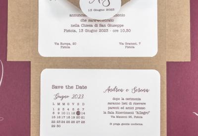 partecipazione di matrimonio E45610 Save the Date