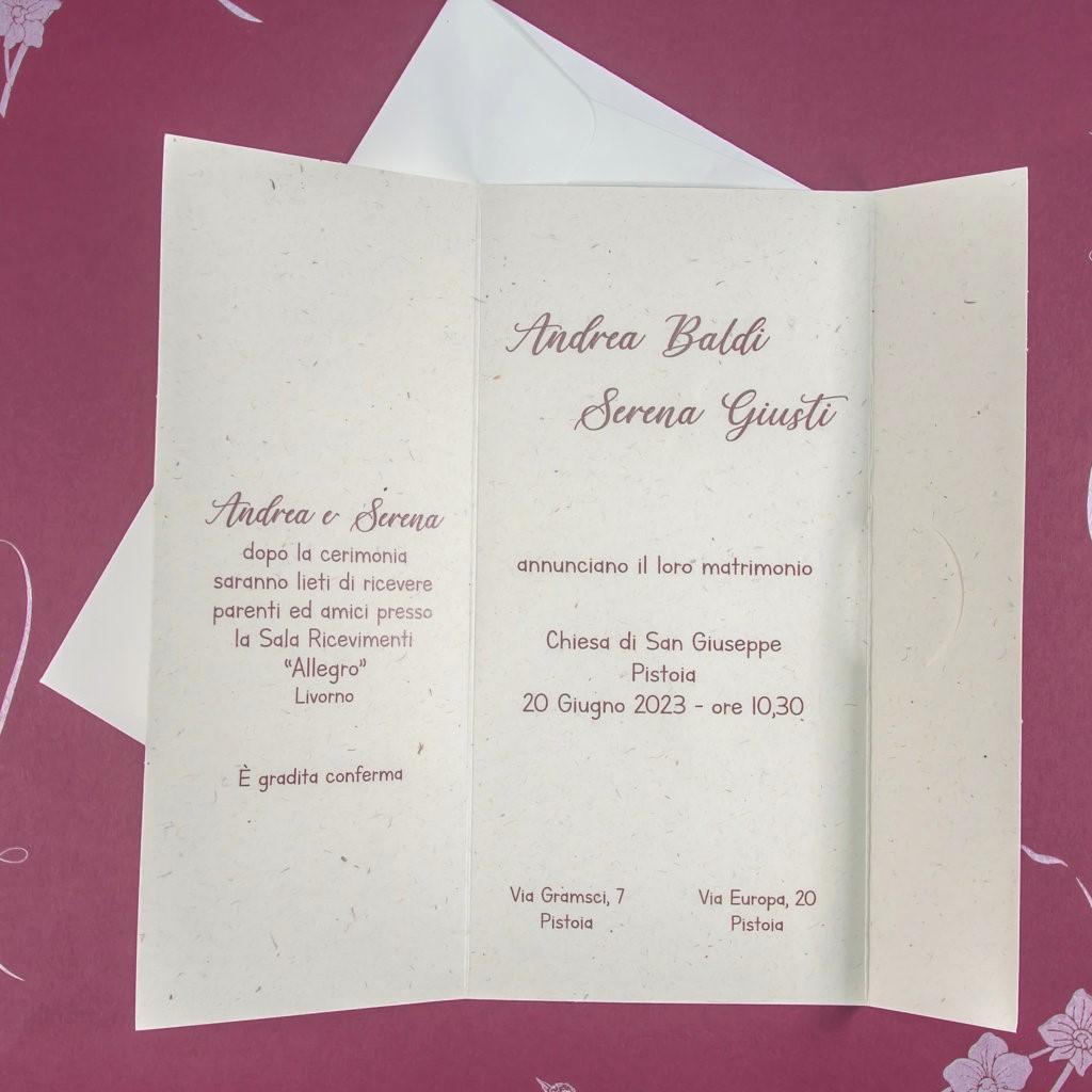 partecipazione di matrimonio E45622 Wedding Timeline
