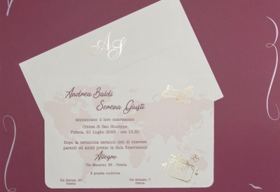partecipazione di matrimonio E45623