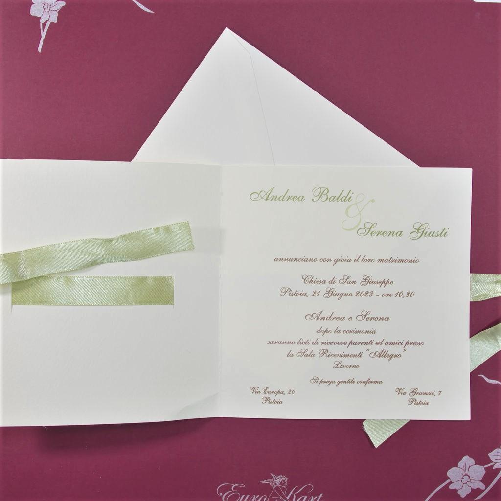 partecipazione di matrimonio E45631 Ulivo