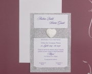 partecipazione di matrimonio E45632 glitterata