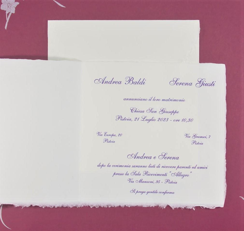 partecipazione di matrimonio E45634