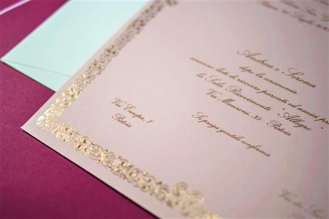 partecipazione di matrimonio E45638