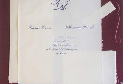 partecipazione di nozze  Amalfi A3
