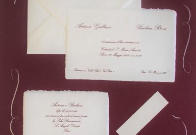 partecipazione di nozze  Amalfi B1