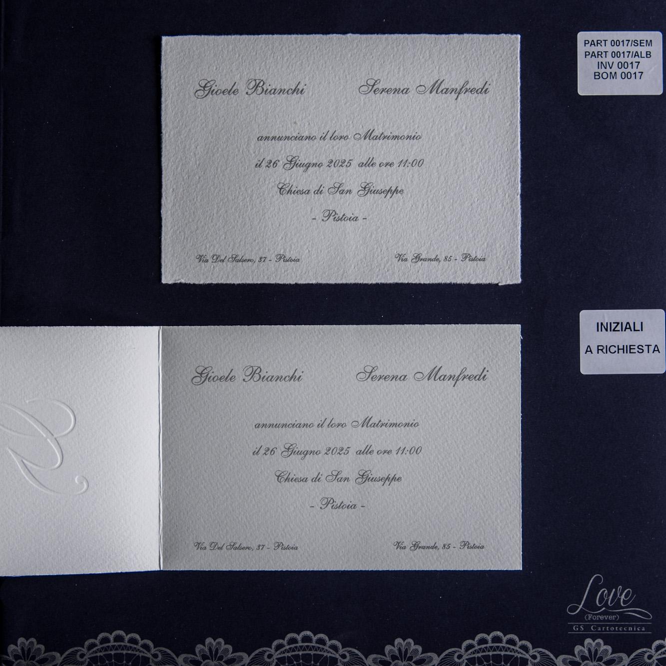 partecipazioni di nozze 0017/Album