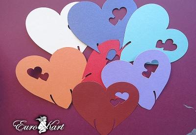 Cuoricini Segnaposto Colorati