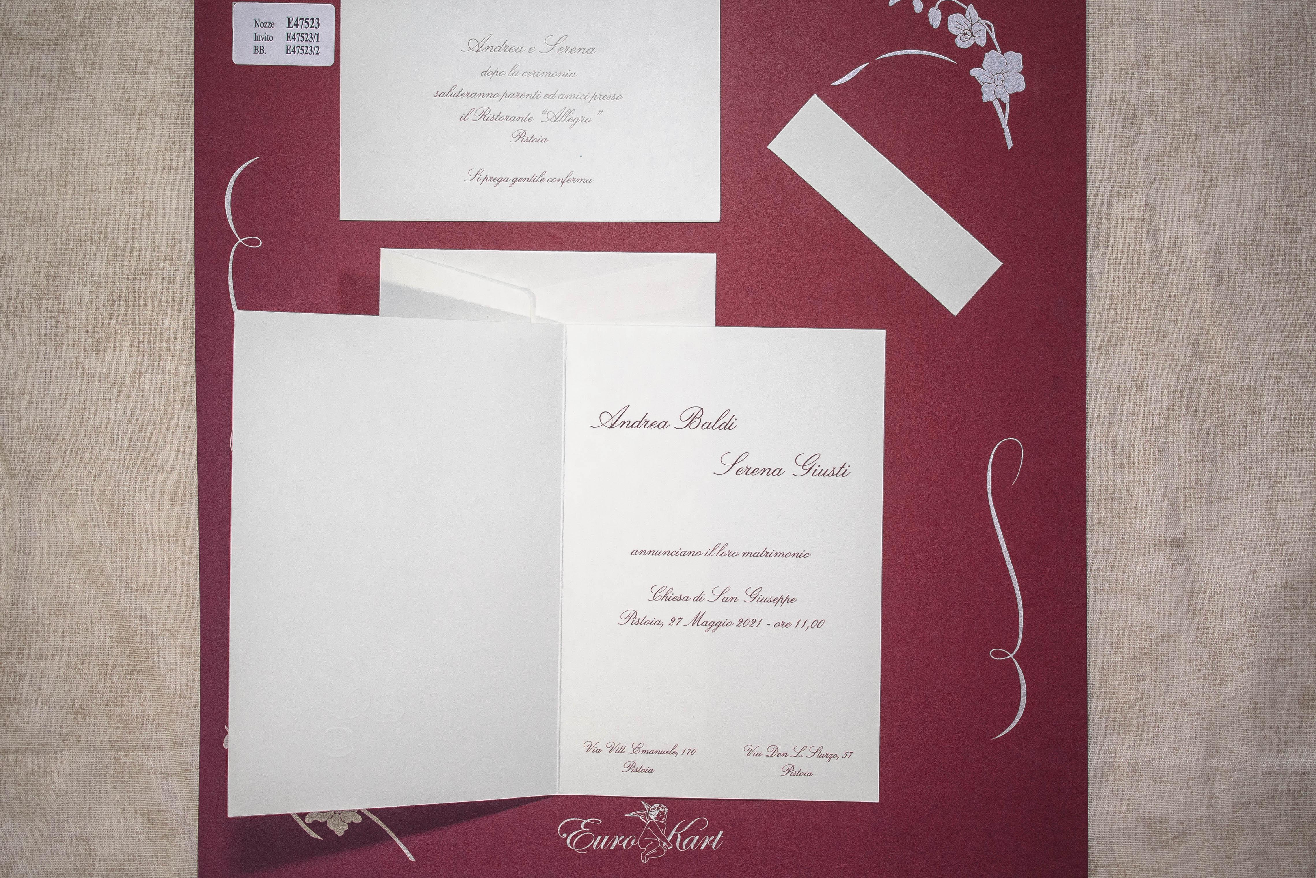 partecipazione di matrimonio E47523