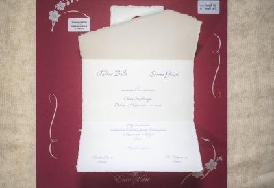 partecipazione di nozze Amalfi A6 (senza busta)