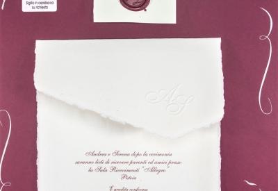 Partecipazioni Matrimonio Senza Busta.Partecipazione Matrimonio Originale Carta Amalfitana Fatta A Mano