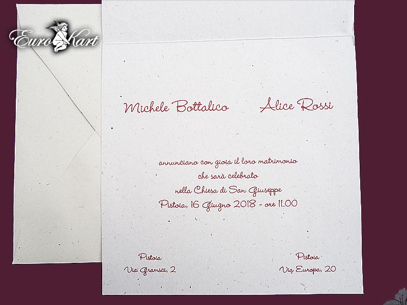 partecipazioni di nozze E45595